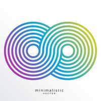 symbole infini coloré fait avec des rayures