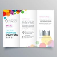 diseño de folleto tríptico abstracto círculo colorido