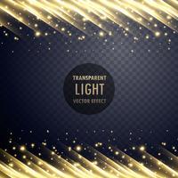Efecto de luz transparente con efecto brillante.