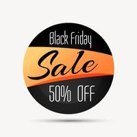 Signo de venta de viernes negro y símbolo con opción de descuento