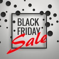 Diseño de cartel de fondo de descuento de venta de viernes negro con negro d