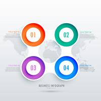 modern circular four steps infographic design, can be used in bu