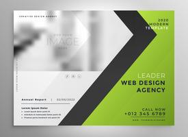 green brochure template presentation design