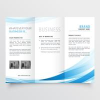 modern clean trifold leaflet design in size A4