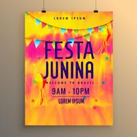 festa junina flyer design invitation template
