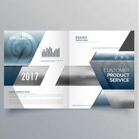 business bifold brochure creative design template