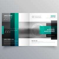 design creativo modello di brochure opuscolo con forme rettangolari