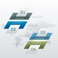 modernt fyra stegs infografiskt diagram för företagspresentationer