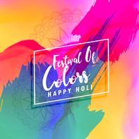 beautiful happy holi colorful background