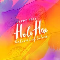 Fondo de saludo colorido festival holi