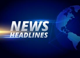 news headlines background with earth planet