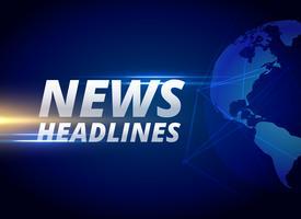 nyheter rubriker bakgrund med jord planet
