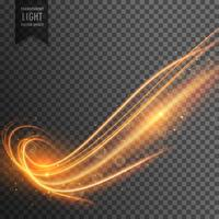 abstract wavy transparent light effect vector background