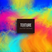 färgglada ljusa vattenfärg textur vektor bakgrund