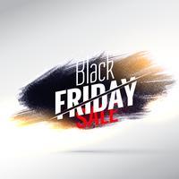 Impresionante diseño de cartel de venta de viernes negro con efecto pintura.