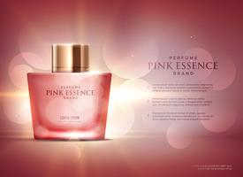 perfume impresionante esencia anuncio concepto diseño plantilla wi