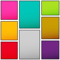 diseño de banner vertical de estilo de cómic de varios colores