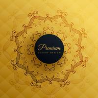 erstklassiger goldener Mandala-Dekorationshintergrund