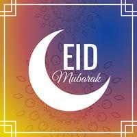festival de eid incrível saudação fundo com lua crescente