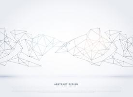 elegant technology wireframe mesh array background for digital n