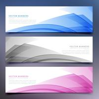 abstrakta banners och headers set