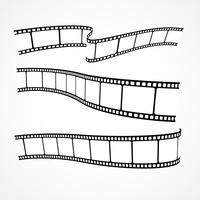 colección de tiras de película de vectores