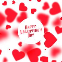 beautiful valentines day background with red blurred hearts