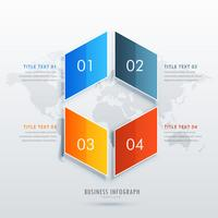 four option infographic template design