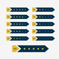 creative star rating symbol design vector