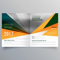 conception de modèle de brochure d'affaires étonnant forme abstraite bifold