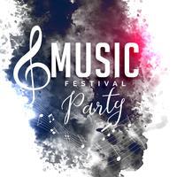 Grunge stilmusik festfestival reklamblad affischdesign