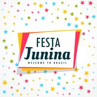 coloré festa junina vacances salutation design vecteur