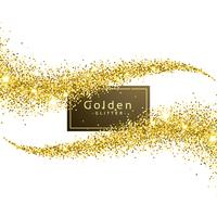 gold glitter wave background vector