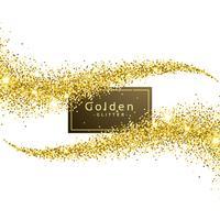 gold glitter wave background vector