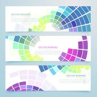 abstract mosaic colorful headers and banners