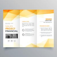 abstract orange trifold creative brochure design template