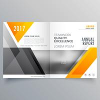 progettazione di brochure di layout di modello di pagina di copertura aziendale con abstrac