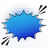 blank comic speech burst bubble with halftone effect