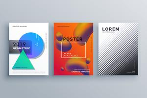 three stylish business brochure design template cover design
