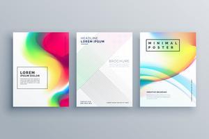 modèle de concept de design affiche coloré abstrait en style minimal