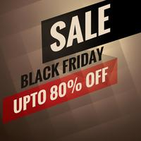 bannière de vente vendredi noir avec option de remise