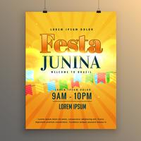 festa junina carnevale flyer poster design background