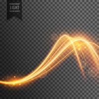 Efecto de luz con estilo en estilo de onda