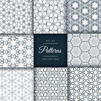 pacote de coleção de padrões de estilo floral e flor