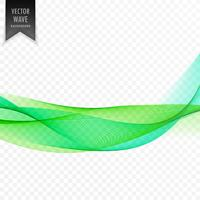 abstract green transparent wave vector background