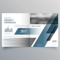 modelo de design de página de capa de brochura de negócios