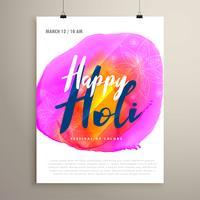 abstract holi festival flyer design