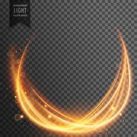 efeito de luz mágica abstrata com onda dourada