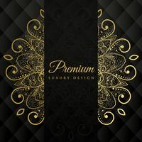 premium ornamanetal mandala design background with glitter effec