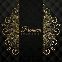 Fondo de diseño de mandala ornamental superior con brillo efecto